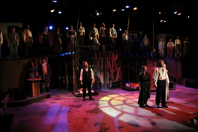 Balagan Theatre's production of Les Miserables - Photo by Jeff Carpenter