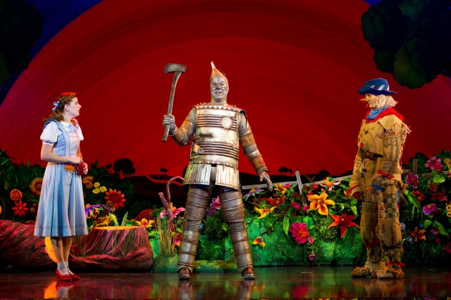 Danielle Wade as Dorothy, Mike Jackson as Tin Man and Jamie McKnight as Scarecrow. Photo By Cylla von Tiedemann.