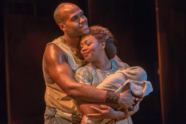 David Hughey as Jake and Sumayya Ali as Clara in the The Gershwins' Porgy and Bess. Photo by Michael J. Lutch.