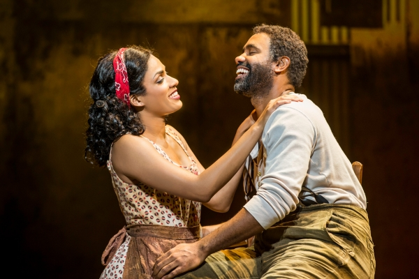 Alicia Hall Moran as Bess and Nathaniel Stampley as Porgy. Photo by Michael J. Lutch.