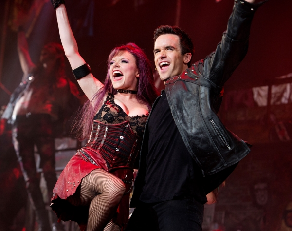 Ruby Lewis & Brian Justin Crum in the national tour of We Will Rock You. Photo credit Paul Kolnik