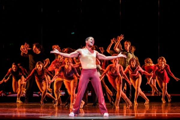 Richard Peacock plays Richie in A Chorus Line at The 5th Avenue Theatre.   Photo Credit Mark Kitaoka