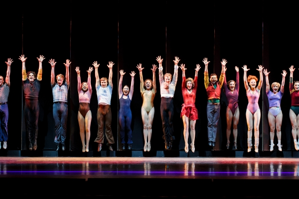 The company of A Chorus Line at The 5th Avenue Theatre.     Photo Credit Mark Kitaoka