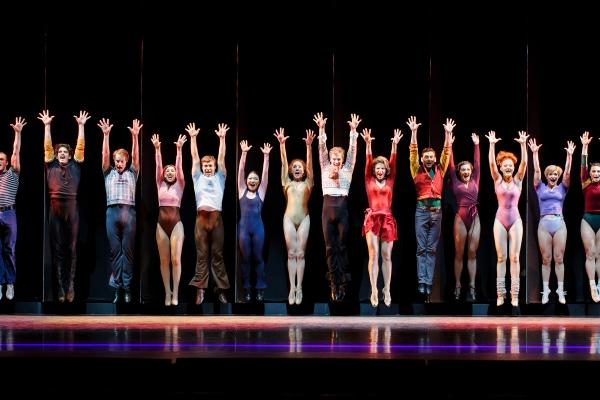 The company of A Chorus Line at The 5th Avenue Theatre.     Photo Credit Mark Kitaoka
