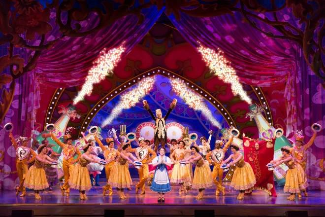 Be our guest!  Jillian Butterfield and the cast of Disney's Beauty and the Beast. Photo by Matthew Murphy