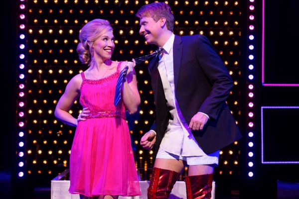 Lauren (Lindsay Nicole Chambers) and Charlie Price (Steven Booth) in the First National Tour of Kinky Boots, coming to The 5th Avenue Theatre. ​Credit Matthew Murphy.