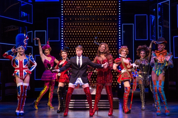 The cast of the First National Tour of Kinky Boots, coming to The 5th Avenue Theatre. Credit Matthew Murphy.