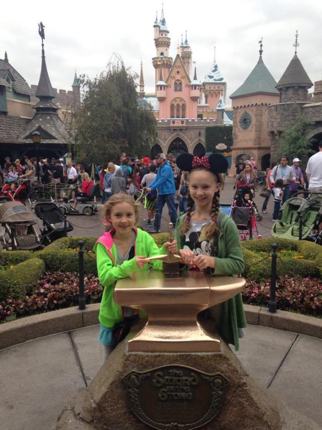 The niece's first trip to Disneyland