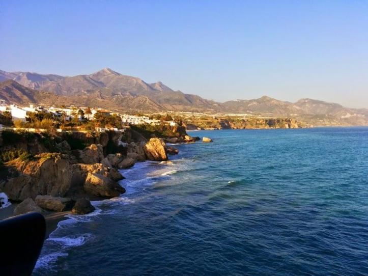The coast in Nerja, Spain