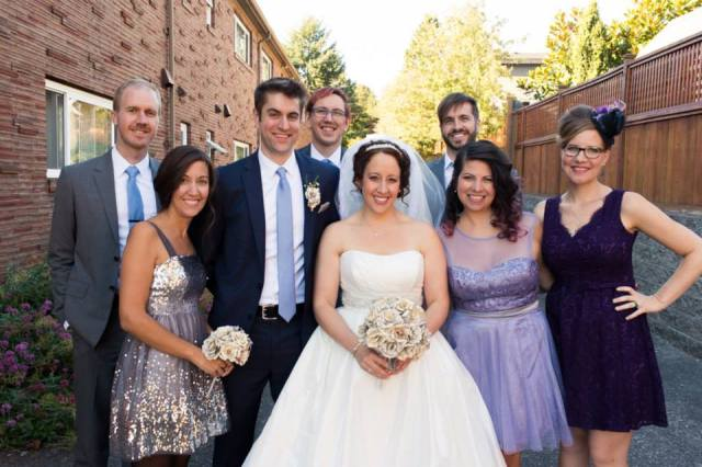 Alida and Will and their wedding party