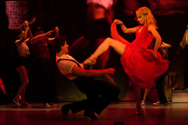 Samuel Pergande (Johnny) and Jenny Winton (Penny). Photo by Matthew Murphy.