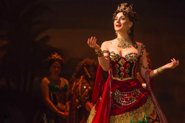 Jacquelynne Fontaine as Carlotta Giudicelli. Photo by Matthew Murphy.