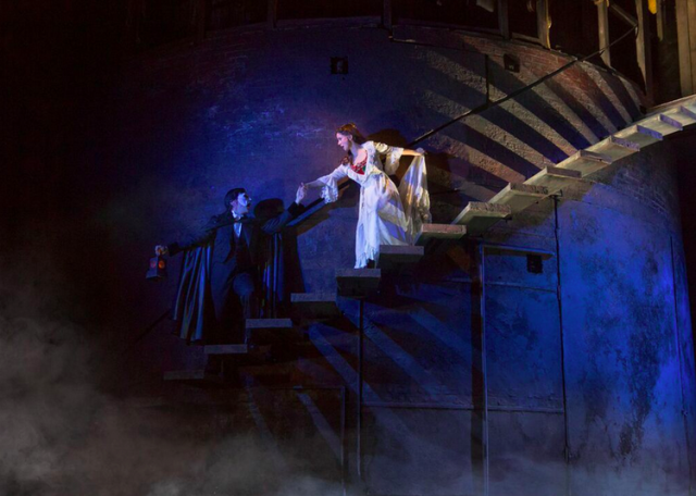 Chris Mann as The Phantom and Katie Travis as Christine Daaé. Photo by Matthew Murphy.
