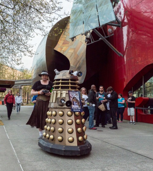 EXTERMINATE! Snap a selfie with a Tardis. Photo by Nat Seymour