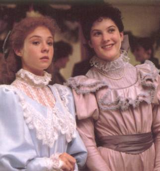 anne-and-diana-in-satin-dresses